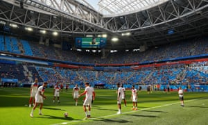 The England players warm up.