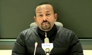 Abiy Ahmed gives a televised address