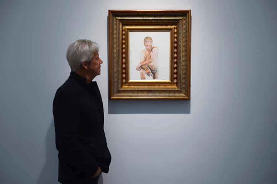 Ilma Gore's painting at the Maddox gallery in central London