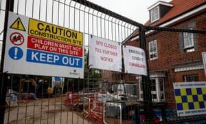 A closed building site in Hook, near Basingstoke