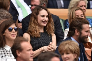 Lily James in royal box