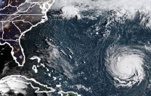 Atantic Ocean A satellite image shows Hurricane Florence