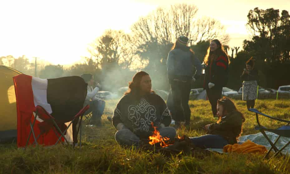 Morning at the Māori protest camp at Ihumātao, Auckland.