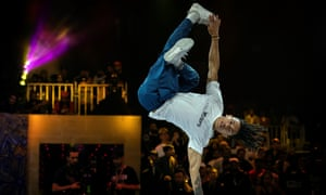 Brazil's Mateus de Sousa Melo aka Bart competes during the Red Bull BC One, the breakdance one-on-one battle world championship in Mumbai.