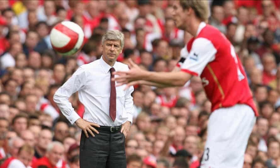 Wenger looks on during Arsenal's first Premier League game at the new Emirates Stadium in 2006. 'I felt as if I'd built the training centre and the stadium myself brick by brick.'
