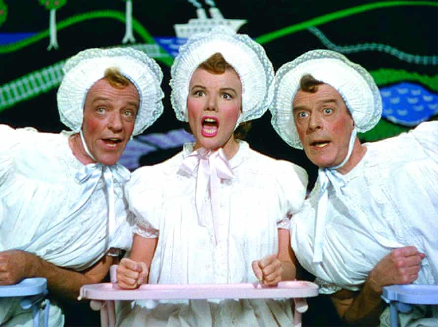 Fred Astaire, Nanette Fabray and Jack Buchanan in the Triplets number.