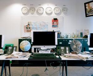Inside the Guardian newsroom, London, UK