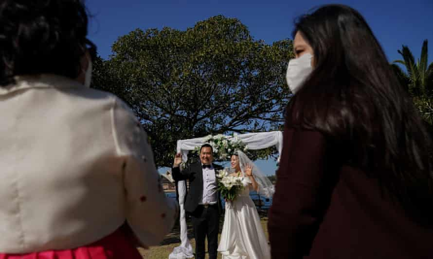Sydney couple Daniel Kim and Ella Kim get married in September. Weddings will soon be allowed to have up to 50 guests with dancing permitted.