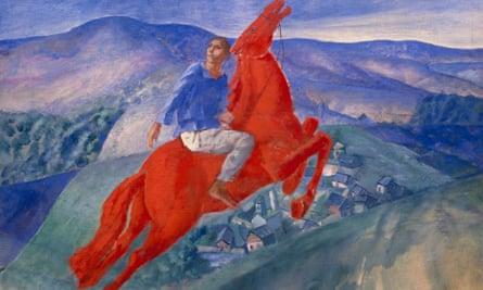 Some of the most exciting art in the world at that time … Fantasy by Petrov-Vodkin.