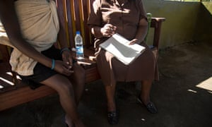 A counselling session at Western Triangle satellite clinic in Highfield, Harare