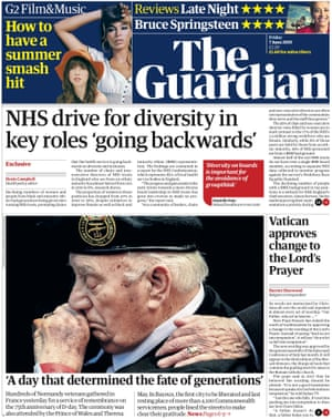 Guardian front page, Friday 7 June 2019