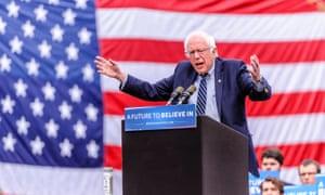 Bernie Sanders campaigning in Hartford, Connecticut.