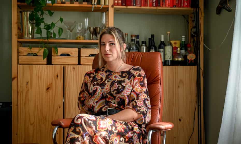 Torrey Peters in her apartment in Brooklyn, New York.