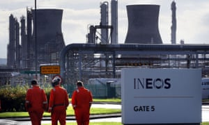 Ineos, which owns the Grangemouth refinery, has said it wants to become the biggest player in the UK's nascent shale gas industry