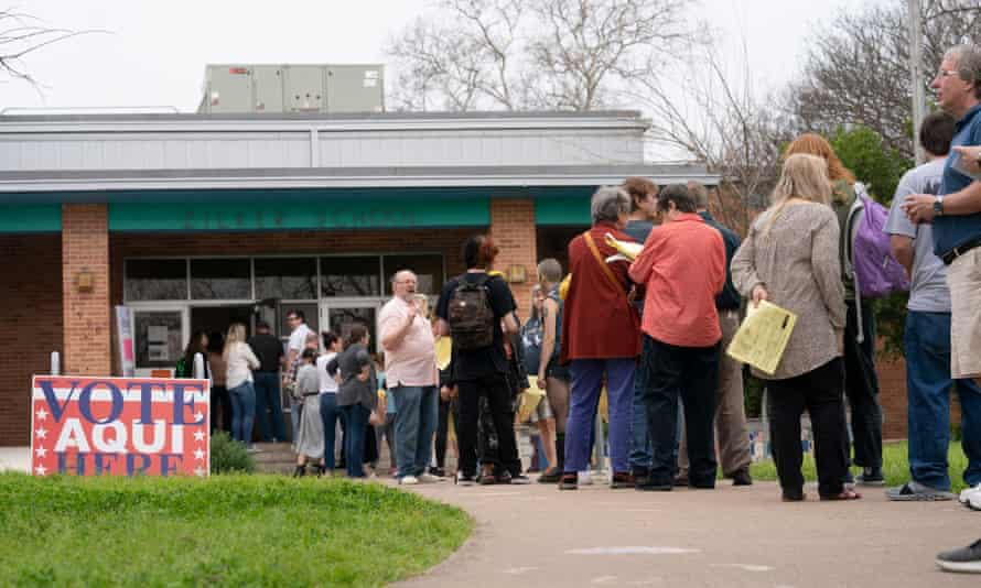Voters in Austin faced long lines when some workers didn't show up due to coronavirus fears.