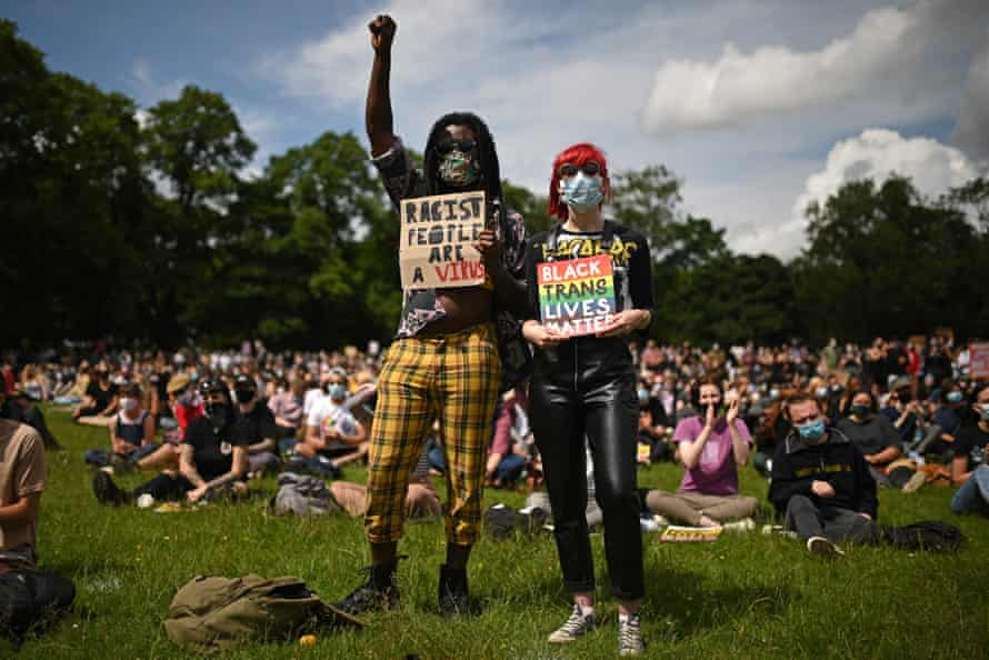 The Black Lives Matter protest on Woodhouse Moor.