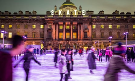 Skating in sheer grandeur ... Somerset House ice rink.