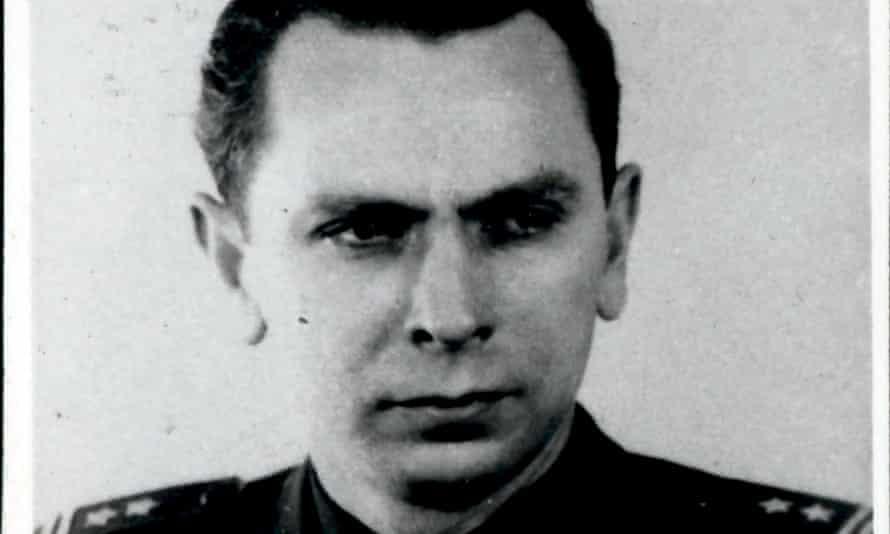 Michal Goleniewski in Polish army uniform in the late 1940s