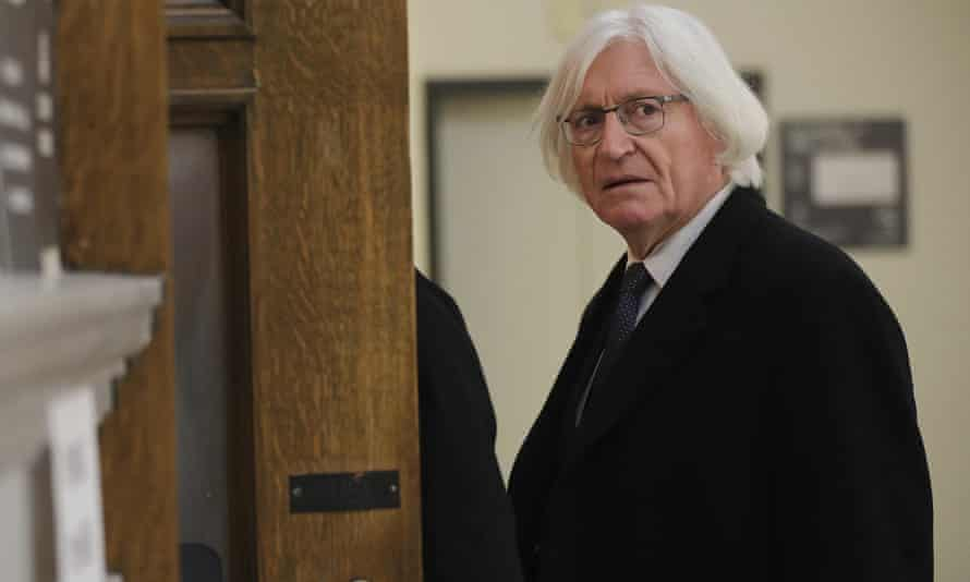 Tom Mesereau, Bill Cosby's defense lawyer, arrives for Cosby's sexual assault retrial at the Montgomery County courthouse in Norristown, Pennsylvania, on Tuesday.