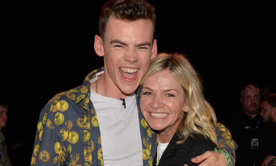 Zoe Ball with her son, Woody.