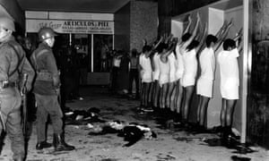 University students are held at gunpoint in Tlatelolco. As many as 300 people were killed, but most Mexican media published the army's figure of 27.