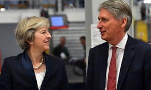 Theresa May and Philip Hammond.