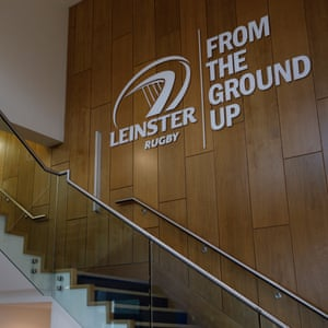 Leinster's club's motto on display in the atrium at their training centre at University College, Dublin.