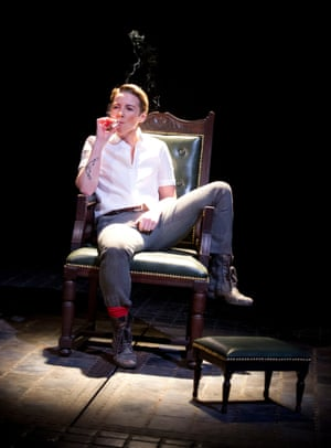 The Roaring Girl, 2014. Directed by Jo Davies, designed by Naomi Dawson. The photograph shows Moll (Lisa Dillon).