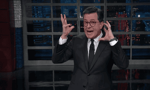 'Donald Trump has said that maybe we should arm teachers. This idea has not been received well by people who have had or been a teacher,' said Stephen Colbert.