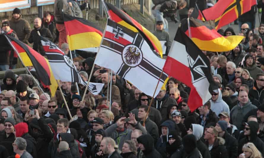 Demonstrators in Cologne, January 2016