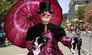 Patricia Osmond of El Paso dressed in steampunk