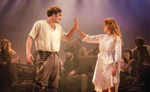 Tom Bateman (Florizel) and Jessie Buckley (Perdita) in The Winter's Tale.