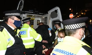 Police make arrests in Soho, central London, before new coronavirus restrictions come into force