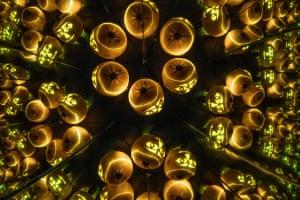 Pumpkins lit upIn a large home made kaleidoscope Photograph: PatGregoryPhoto/GuardianWitness