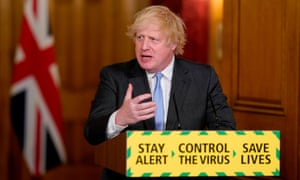 Boris Johnson attending the last of the daily remote press conferences to update the nation on the Covid-19 pandemic.