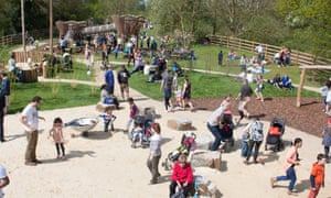 The adventure play area at Dinton Pastures