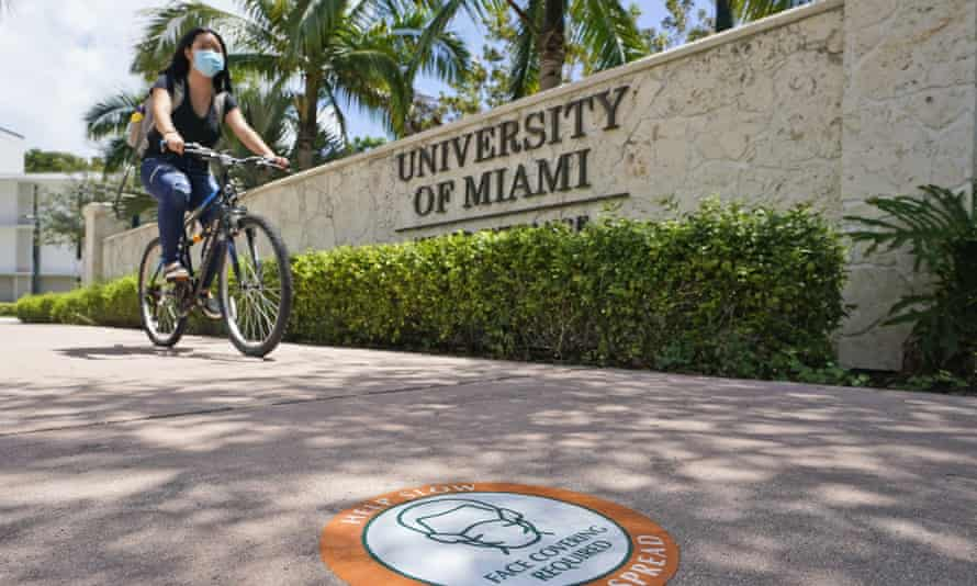 The University of Miami is continuing classes this semester