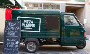 A Pizza Pilgrims van in London before the lockdown.