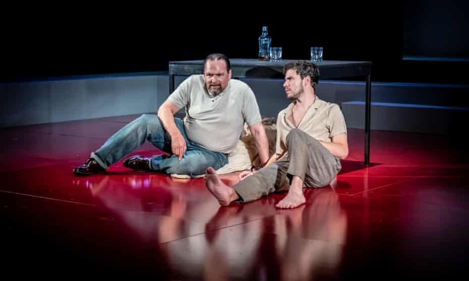 Peter Forbes (Big Daddy) and Oliver Johnstone (Brick) in Cat on a Hot Tin Roof.