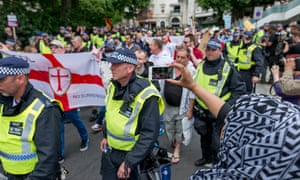 English Defence League protest In London