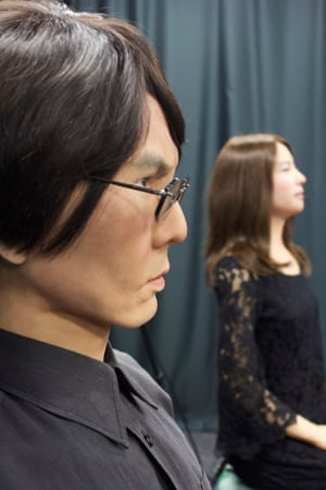 Geminoid HI-1 - a humanoid made in Ishiguro's likeness - and Geminoid F, the world's first humanoid actor.
