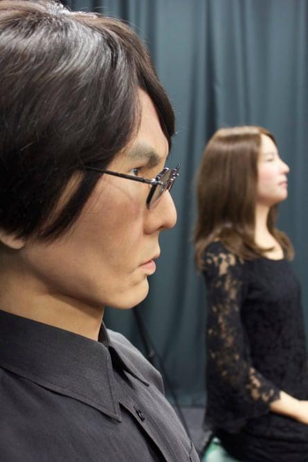Geminoid HI-1 - a humanoid made in Ishiguro's likeness - and Geminoid F, the world's first humanoid actor.