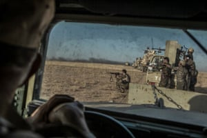 Peshmerga forces take part in an operation to recapture 11 villages, currently under the control of Islamic State, south-east of Mosul, northern Iraq