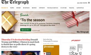 Telegraph axes metered paywall and launches premium subscription
