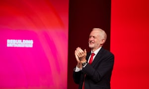 Labour leader Jeremy Corbyn at the party's annual conference in Liverpool.