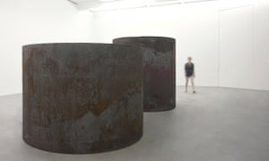 Rounds: Equal Weight, Unequal Measure, 2016, by Richard Serra at the Gagosian Britannia Street.