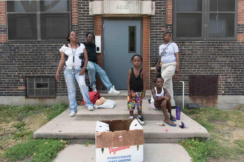 Marvalene Ford (standing, right) with friends in Central.