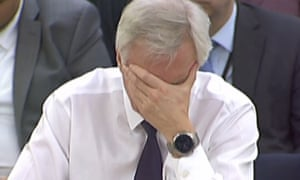 The Brexit secretary, David Davis, gives evidence on developments in EU divorce talks to the Commons exiting the EU committee.
