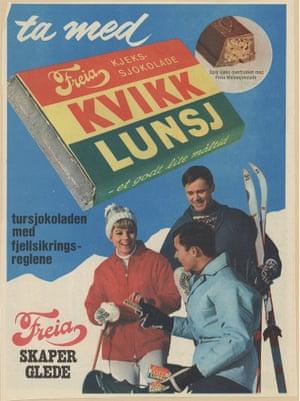 Kvikk Lunsj, a Norwegian hiking snack.