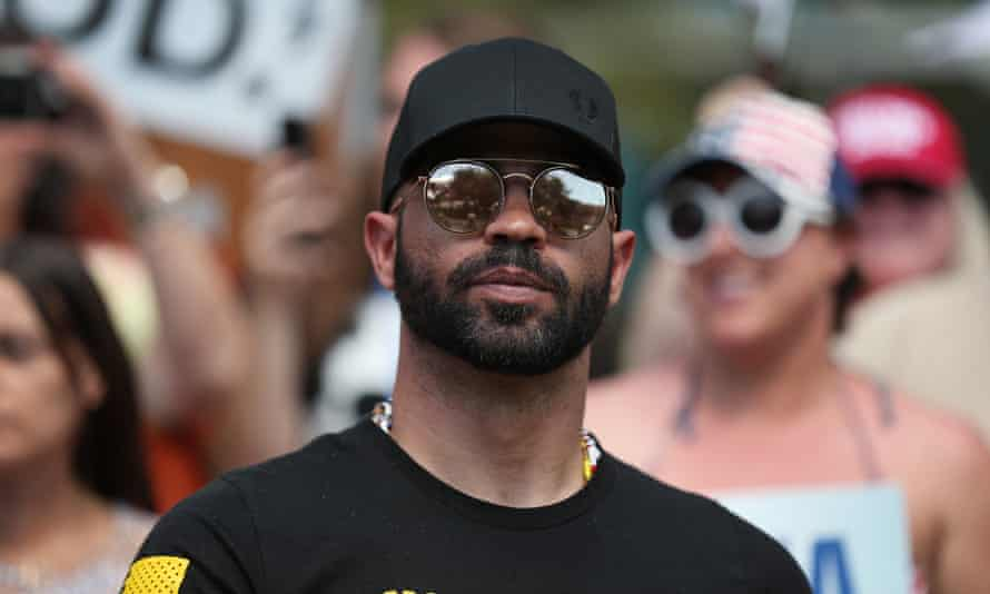 Enrique Tarrio, leader of the Proud Boys, has long been criticized as a key promoter of disinformation about the pandemic and measures to counteract its spread, including masks and lockdowns.